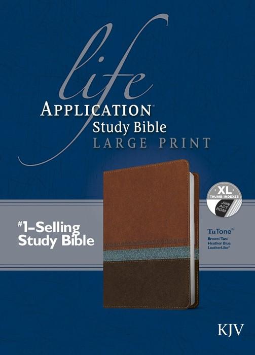 KJV Life Application Study Bible Large Print, Indexed (Leather Binding)