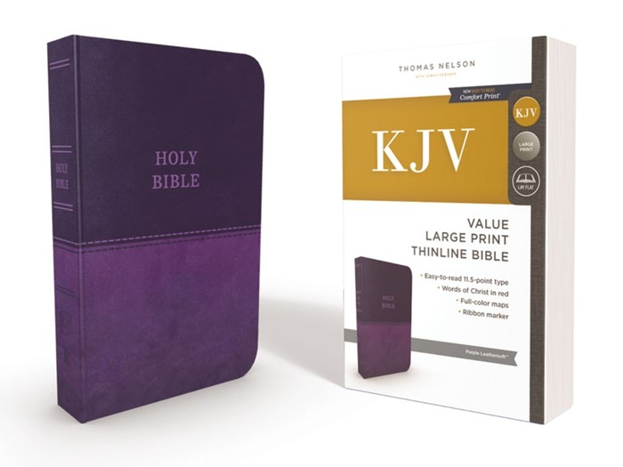 KJV ValueThinline Bible, Purple, Large Print, Red Letter (Imitation Leather)