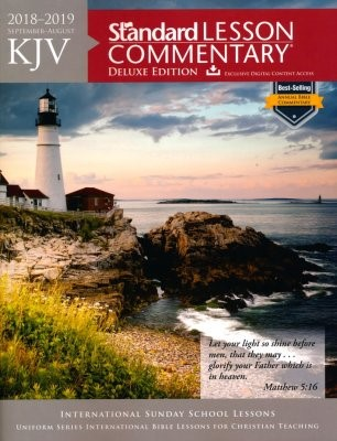 KJV Standard Lesson Commentary Deluxe Ed. 2018-2019 (Paperback)