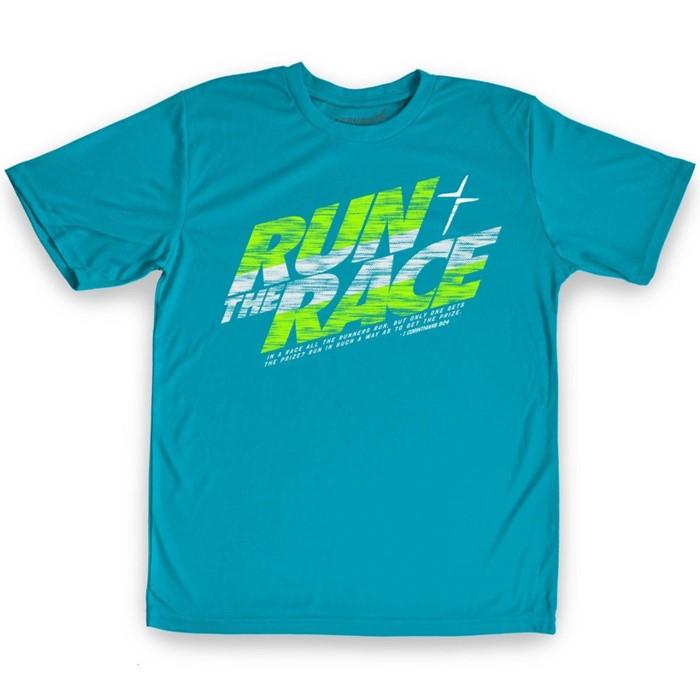 Run The Race Kids Active T-Shirt, Large (General Merchandise)