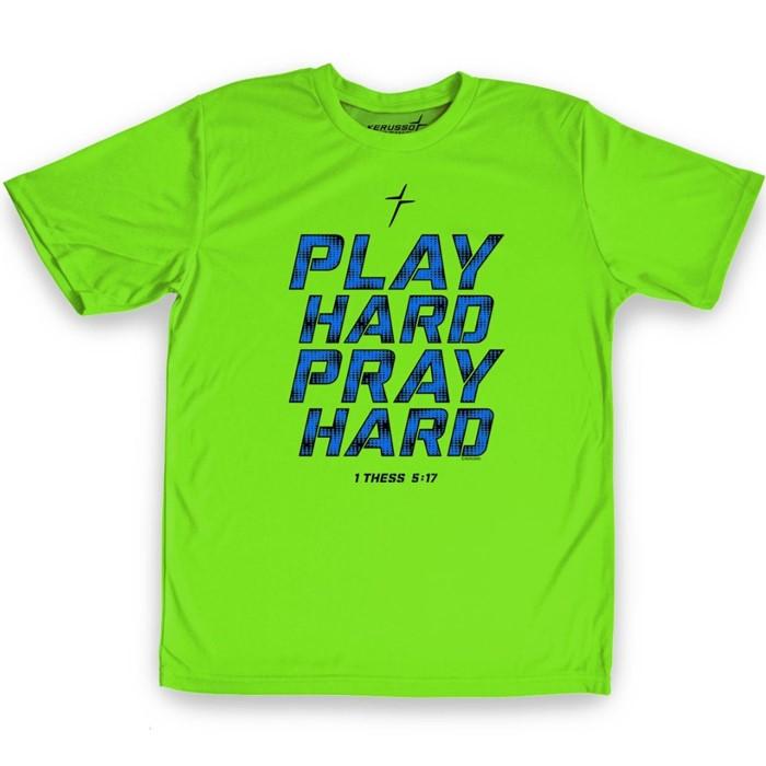 Play Hard Pray Hard Kids Active T-Shirt, Medium (General Merchandise)