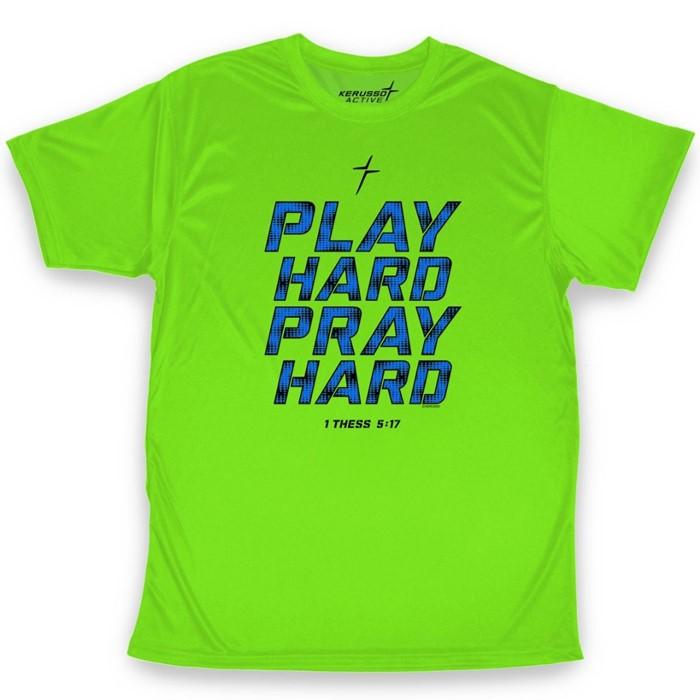 Play Hard Pray Hard Active T-Shirt, Medium (General Merchandise)