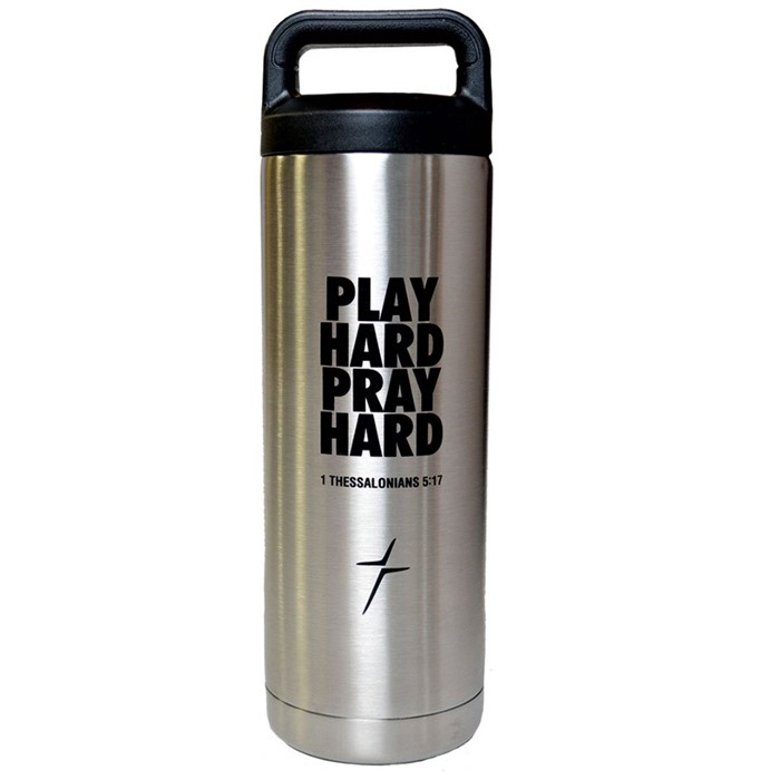 Play Hard Pray Hard Stainless Steel Bottle