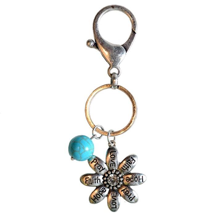Faith Gear Flowers Keychain (Keyring)
