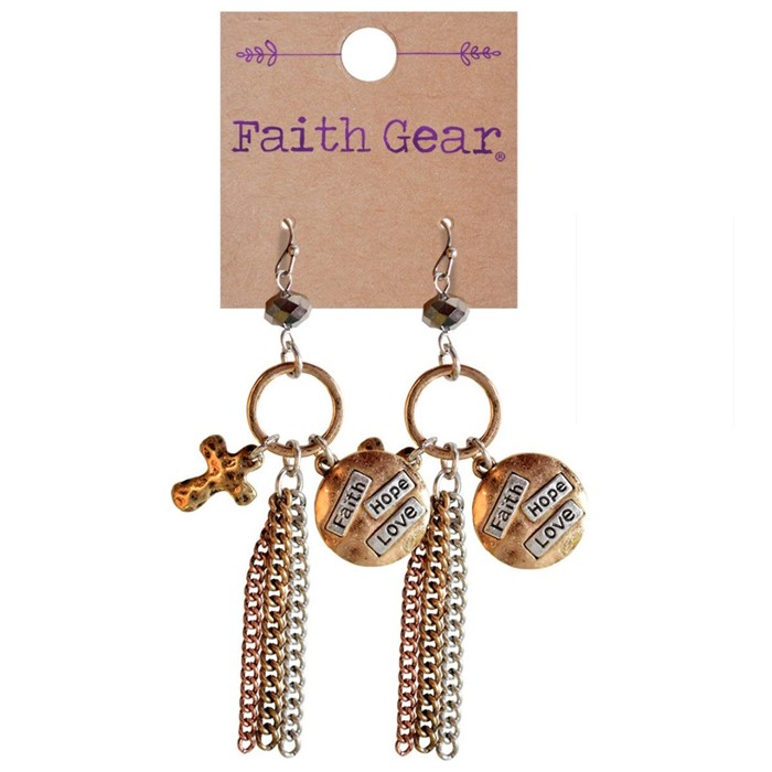 Faith Gear Women's Earrings - Faith Hope Love (General Merchandise)