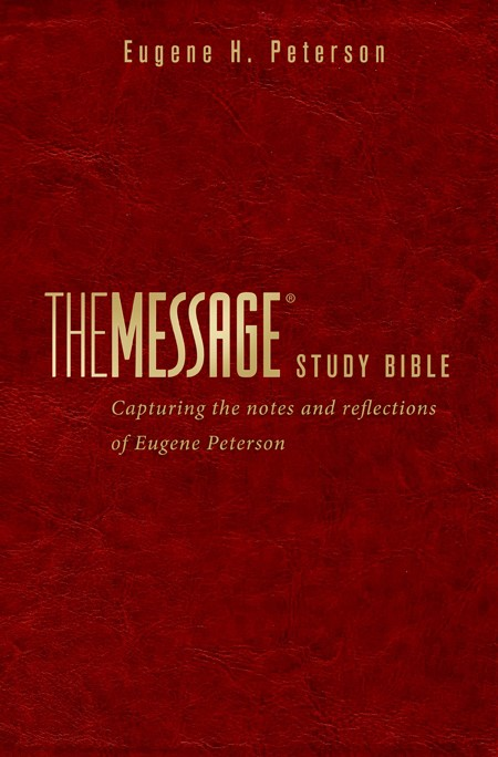 The Message Study Bible (Leather Binding)