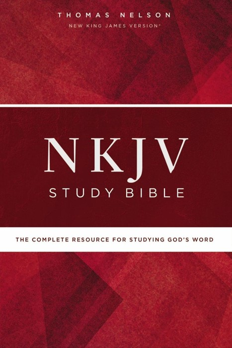 NKJV Study Bible, Comfort Print, Red Letter Edition (Hard Cover)
