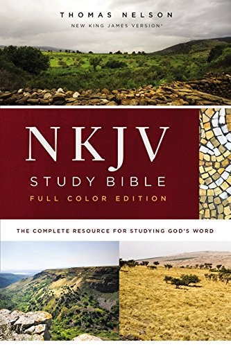 NKJV Study Bible, Full-Color, Comfort Print, Red Letter Ed. (Hard Cover)