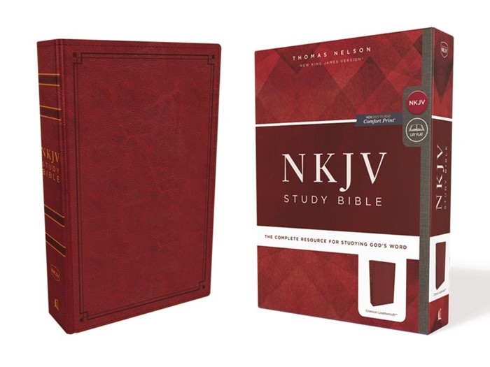 NKJV Study Bible, Red, Comfort Print, Red Letter Edition (Imitation Leather)