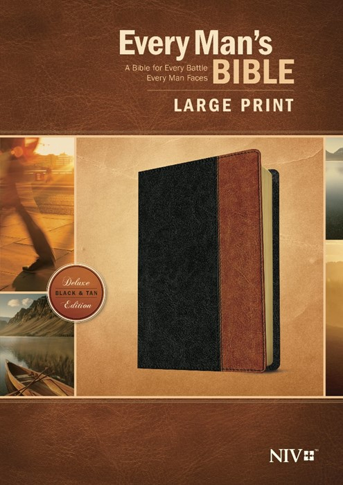 NIV Every Man'S Bible Large Print, Tutone (Leather Binding)