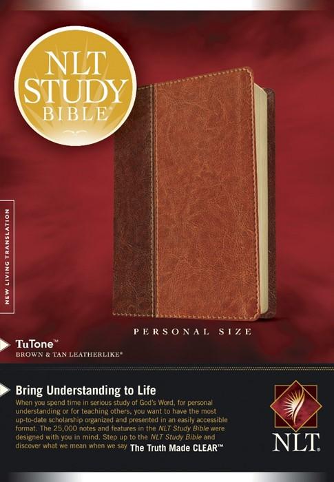 NLT Study Bible Personal Size Brown/Tan (Imitation Leather)