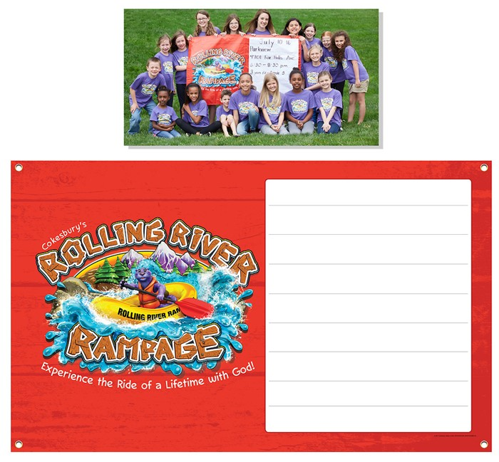 VBS 2018 Rolling River Rampage Outdoor Banner (Poster)