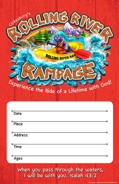 VBS 2018 Rolling River Rampage Large Promotional Poster (Poster)
