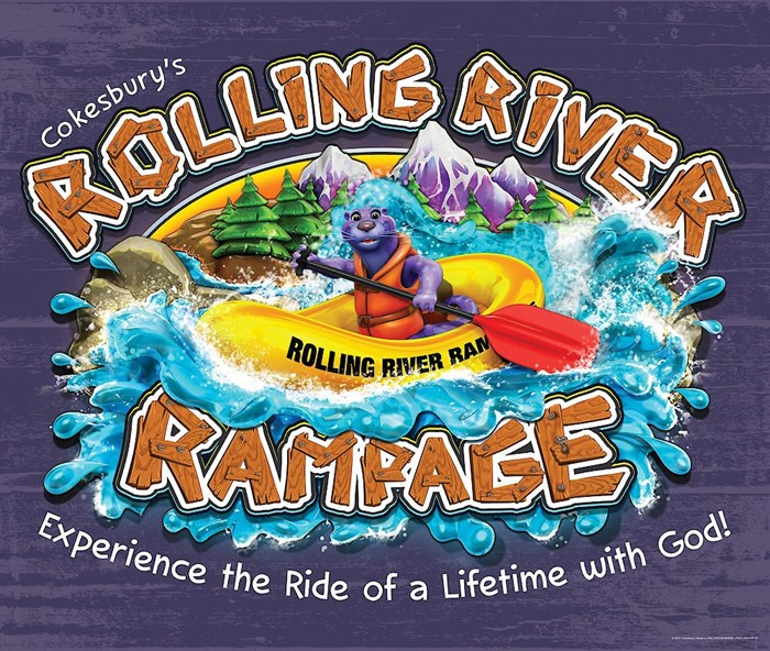 VBS 2018 Rolling River Rampage Large Logo Poster (Poster)