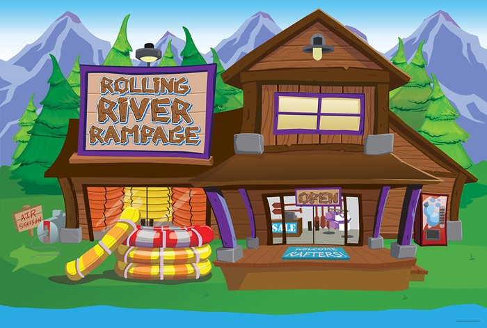 VBS 2018 Rolling River Rampage Decorating Mural (Poster)