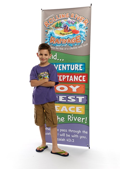 VBS 2018 Rolling River Rampage Theme Banner (Poster)