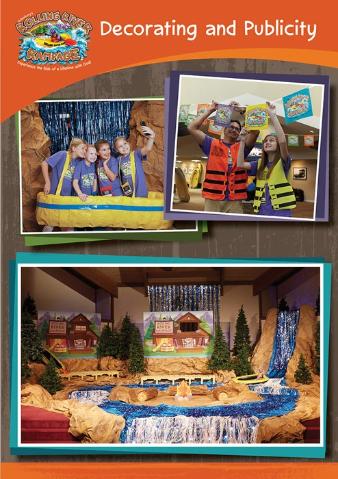 VBS 2018 Rolling River Rampage Decorating & Publicity CD (CD-Rom)
