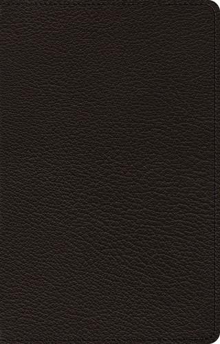 ESV Premium Thinline Bible, Goatskin, Black (Genuine Leather)