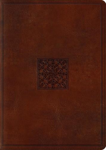 ESV Study Bible, Large Print, TruTone, Walnut (Imitation Leather)