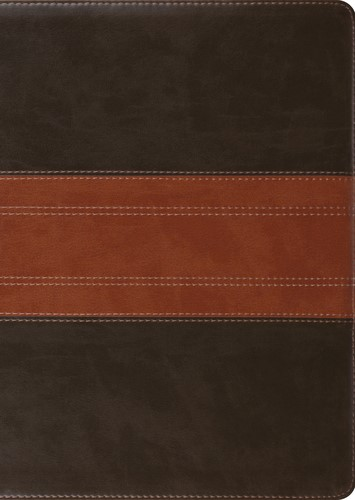ESV Study Bible, Large Print, TruTone, Forest/Tan (Imitation Leather)