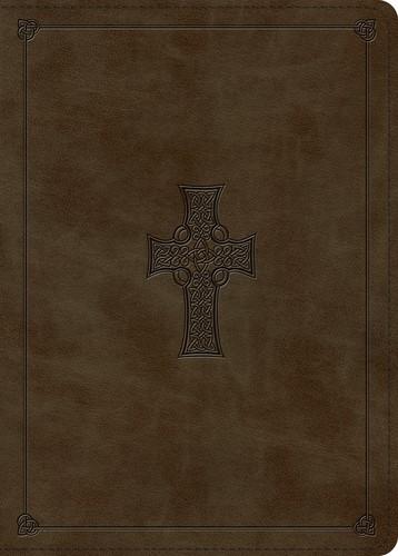 ESV MacArthur Study Bible, Olive, Celtic Cross Design (Imitation Leather)