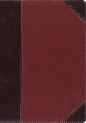 ESV MacArthur Study Bible, Large Print, Brown/Cordovan (Imitation Leather)