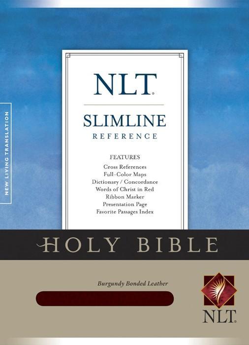 NLT Slimline Reference Bible, Burgundy (Bonded Leather)