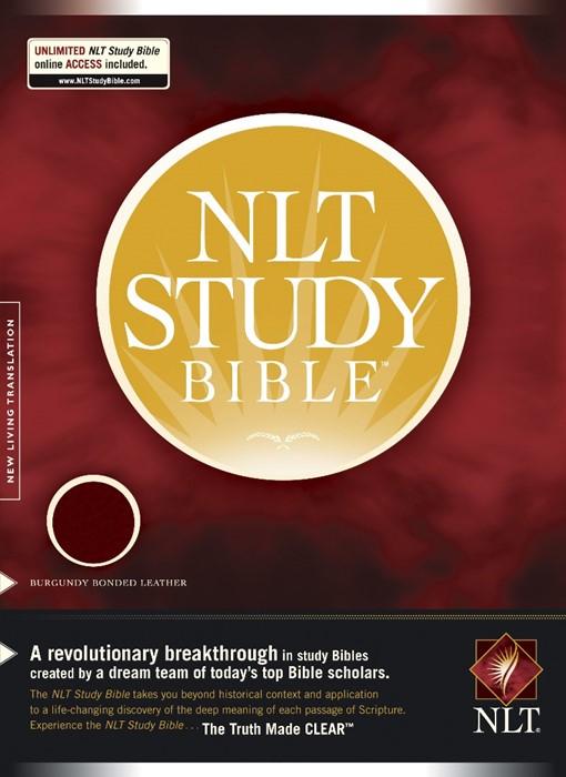 NLT Study Bible, Burgundy (Bonded Leather)