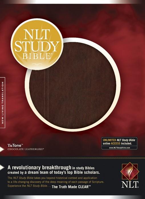NLT Study Bible, Tutone Chocolate (Imitation Leather)