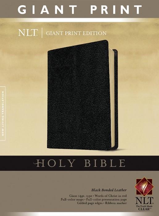 NLT Holy Bible, Giant Print, Black (Bonded Leather)