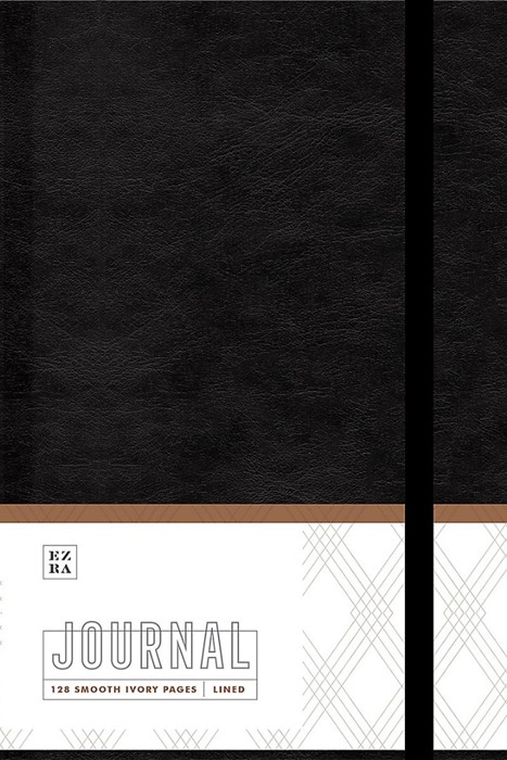Ezra Journal, Black (Imitation Leather)
