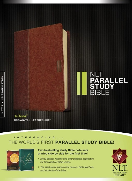 NLT Parallel Study Bible, Tutone Brown/Tan, Indexed (Imitation Leather)