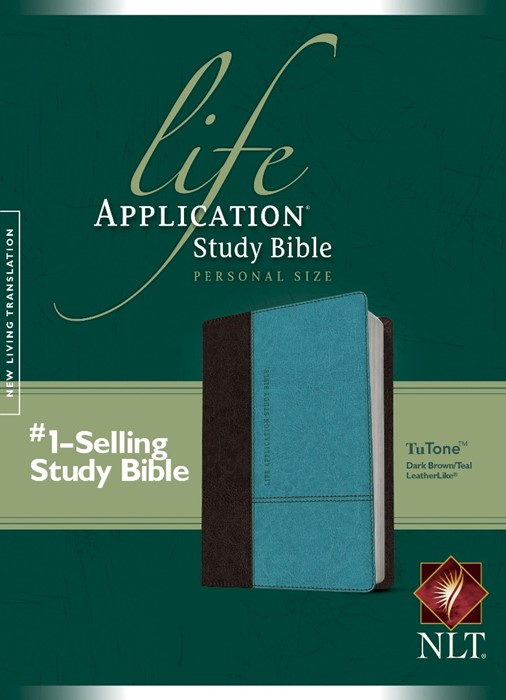NLT Life Application Study Bible Personal Size Brown/Teal (Imitation Leather)