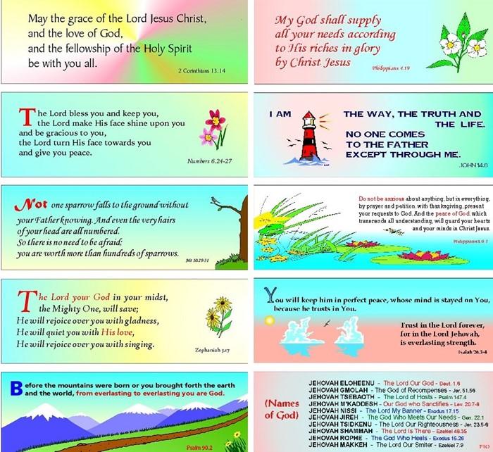 24 Assorted Evangelistic and Encouraging Bookmarks (Bookmark)