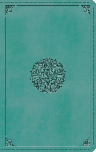 ESV Single Column Thinline Bible, Turquoise, Emblem Design (Imitation Leather)