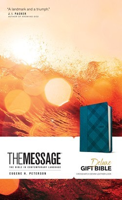 Message Deluxe Gift Bible, Denim Leather-Look (Imitation Leather)