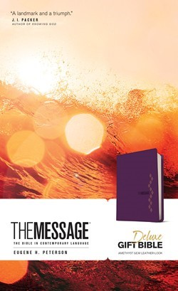 Message Deluxe Gift Bible, Purple (Imitation Leather)