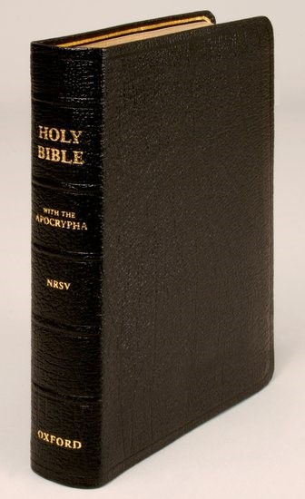 NRSV Bible With Apocrypha, Pocket Edition, Black (Genuine Leather)