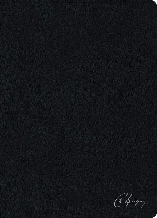 RVR 1960 Biblia de estudio Spurgeon, negro piel genuina (Imitation Leather)