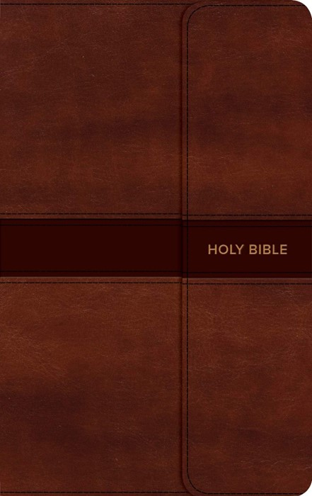 CSB Personal Size Bible, Saddle Brown, Magnetic Flap (Imitation Leather)