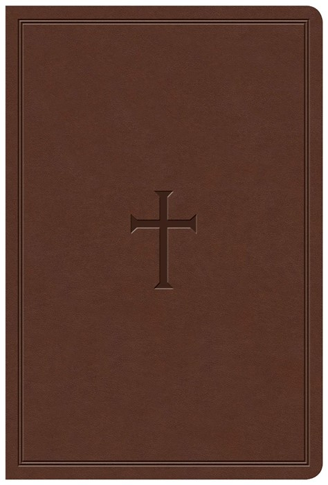 KJV Giant Print Reference Bible, Brown LeatherTouch, Indexed (Imitation Leather)