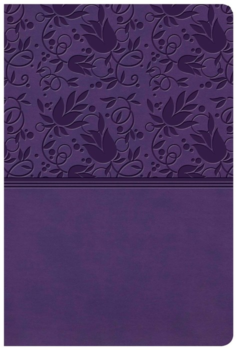 KJV Giant Print Reference Bible, Purple LeatherTouch, Indexe (Imitation Leather)