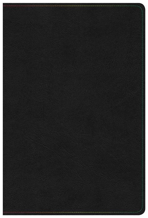 KJV Rainbow Study Bible, Black LeatherTouch, Indexed (Imitation Leather)
