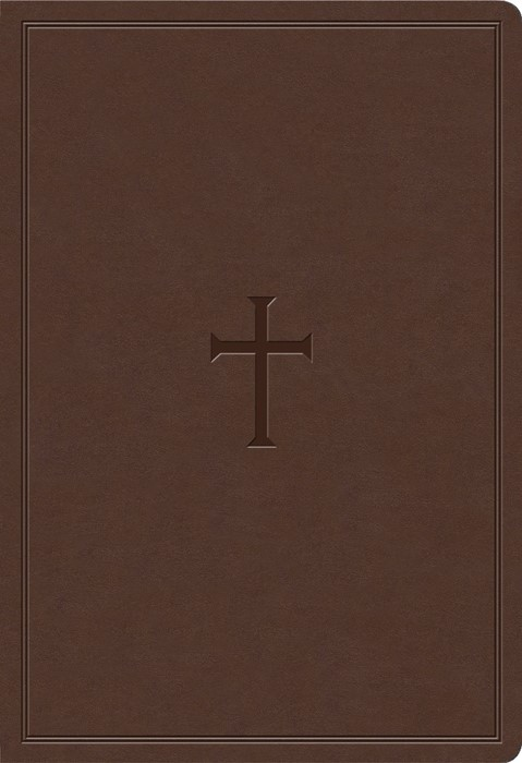 KJV Super Giant Print Reference Bible, Brown LeatherTouch (Imitation Leather)