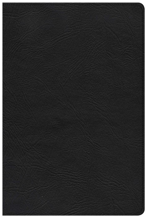 KJV Giant Print Reference Bible, Black Genuine Leather, Inde (Genuine Leather)