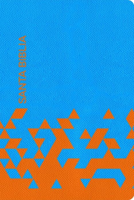NVI Biblia para Regalos y Premios, azul océano/papaya símil (Imitation Leather)