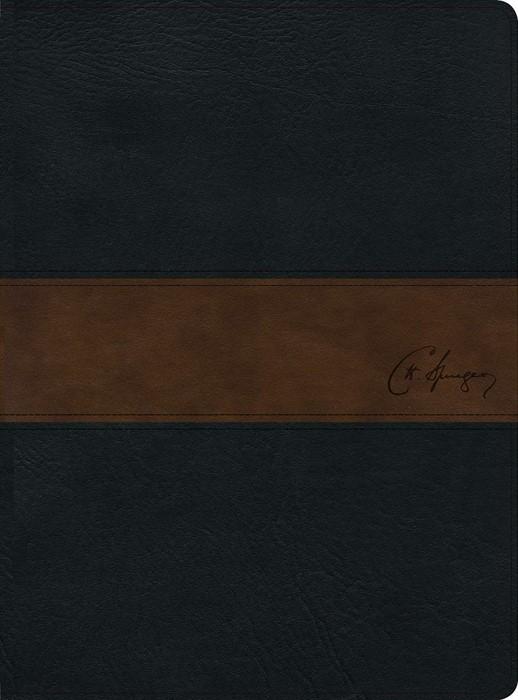 RVR 1960 Biblia de estudio Spurgeon, negro/marrón símil piel (Imitation Leather)