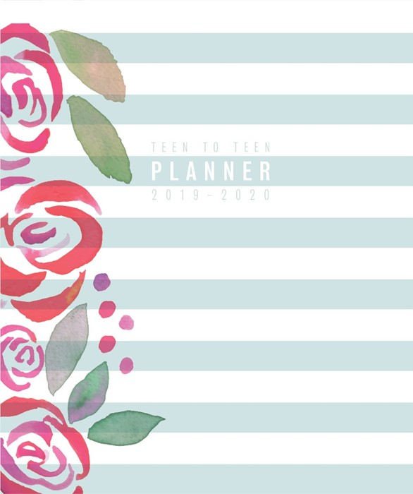 Teen to Teen Academic Planner 2019-2020, Blue Stripes (Hard Cover)