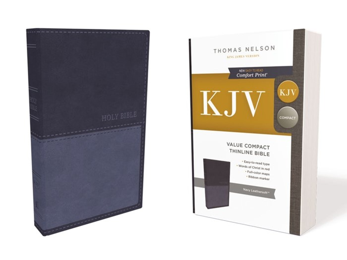 KJV Value Compact Thinline Bible, Blue, Red Letter (Imitation Leather)