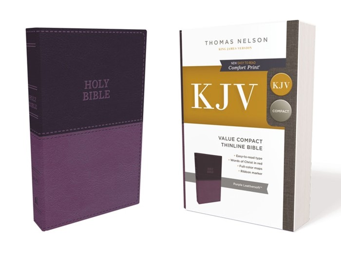 KJV Value Compact Thinline Bible, Purple, Red Letter (Imitation Leather)
